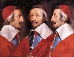 Ф. де Шампень.Тройной портрет кардинала Ришелье.1637