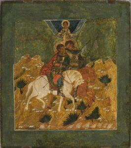 Флор и Лавр на конях.17 век