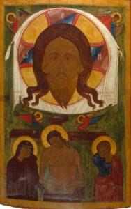 Икона_Спас Нерукотворный. Христос во гробе.Нач.16 века