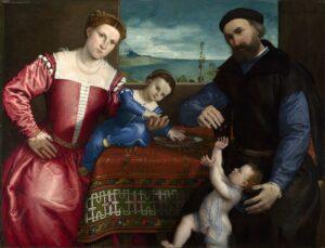 Л.Лотто.Портрет Джованни делла Вольта с женой и детьми.1547