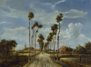 М.Хоббема.Аллея в Миддельхарнисе.1689