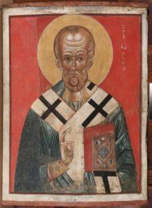 Никола (краснофонный).Новгородская школа.Нач.14 века