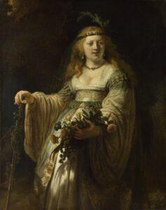 Рембрандт.Саския в костюме пастушки.1635