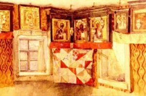 В.Суриков.Деревенская божница.1883