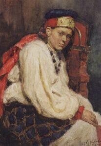 В.Суриков.Натурщица в старинном русском наряде.1882