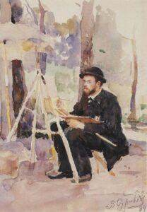 В.Суриков.Портрет И.С.Остроухова.1884