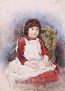 В.Суриков.Портрет Ольги Суриковой.1887-1888