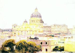 В.Суриков.Собор св.Петра в Риме.1884