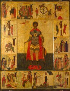 Великомученик Георгий, с житием.Начало 16 в.