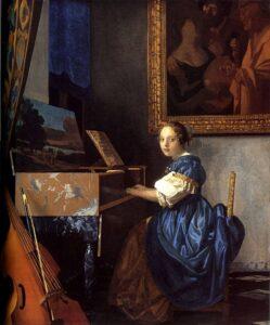 Я.Вермеер Делфтский.Девушка за клавесином.1670