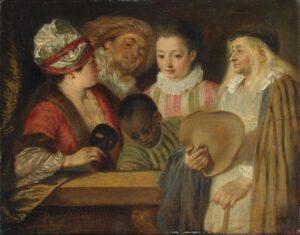 А.Ватто.Актеры Французской комедии.1711-1712.
