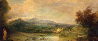 А.Ватто.Пейзаж с водопадом.1713-1715