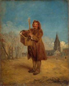 А.Ватто.Савояр с сурком.1716