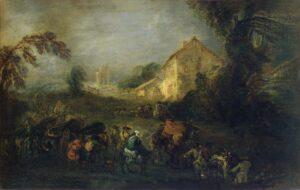 А.Ватто.Тяготы войны.1715