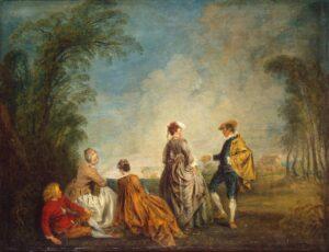 А.Ватто.Затруднительное предложение.1715-1716
