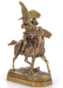 Скульптура Е.Лансере.Киргиз с беркутом.1876