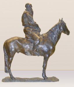 П.Трубецкой.Л.Н.Толстой на лошади.1899