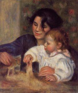 Ренуар.Габриель Ренар и младенец сын Жан.1895-1896