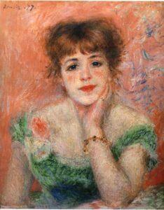 Ренуар.Портрет актрисы Жанны Самари.1877