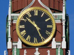 Часы на Спасской башни Московского Кремля. нач.21 века