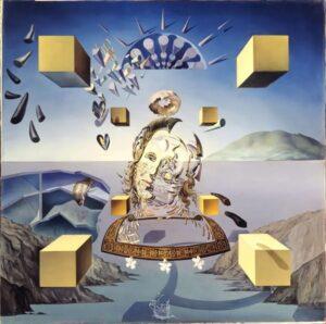 Сальвадор Дали.Галатея в момент творения.1954 г.