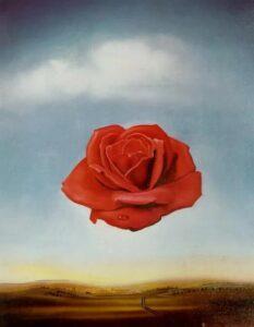 Сальвадор Дали.Медитативная роза.1958 г.