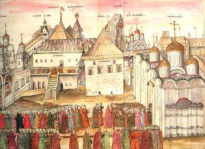 Московский Кремль из книги С. Герберштейна Записки о московских делах.1563 год