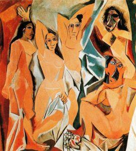 П.Пикассо.Авиньонские девицы.1907