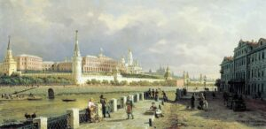 П.Верещагин.Вид Московского Кремля.1879