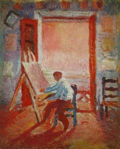 Сальвадор Дали.Автопортрет в студии.1919 г.