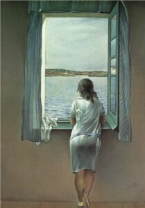 Сальвадор Дали.Женская фигура у окна.1925 г.