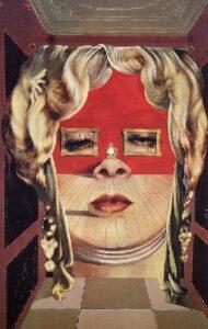 Сальвадор Дали.Лицо Мэй Уэст, использованное в качестве сюрреалистической комнаты.1934-1935 гг.