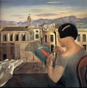 Сальвадор Дали.Женщина у окна в Фигерасе.1926 г.