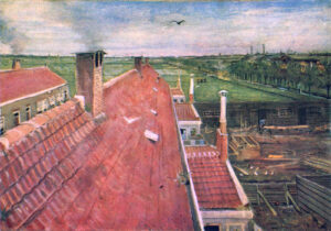 В.Ван Гог.Крыши.Вид из мастерской.1882 г.
