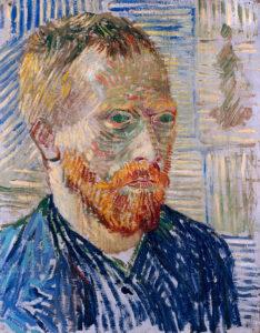 В.Ван Гог.Автопортрет с японской гравюрой.1887 г.