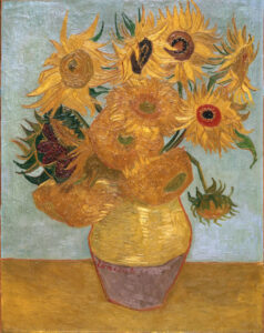 В.Ван Гог.Натюрморт двенадцать подсолнухов в вазе II.1889 г.