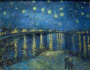 В.Ван Гог.Звёздная ночь над Роной. 1888 г.