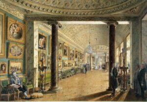 А.Н.Воронихин. Вид картинной галереи в Строгановском дворце.1793 г.