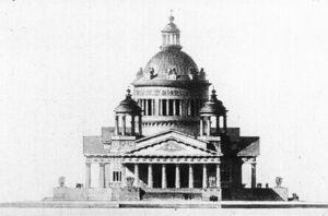 А.Н.Воронихин.Проект храма, посвященного победе 1812 года. 1813 г.