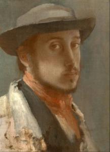 Эдгар Дега.Автопортрет.1858 г.