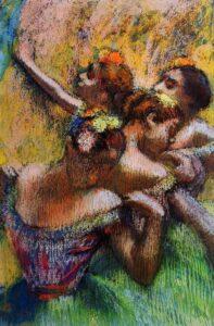 Эдгар Дега.Четыре танцовщицы.1902г