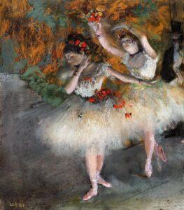 Эдгар Дега.Две танцовщицы выходят на сцену.1878г