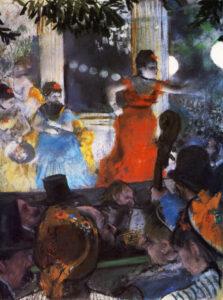 Эдгар Дега.Кафе-концерт в Амбассадоре.1877 г.