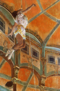Эдгар Дега.Мисс Ла-Ла в цирке Фернандо.1879 г.