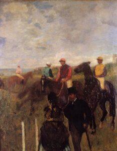 Эдгар Дега.На скачках.1872 г.