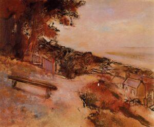 Эдгар Дега.Пейзаж у моря.1898 г.