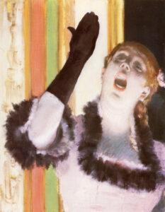 Эдгар Дега.Певица с перчаткой.1878 г.