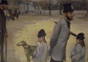 Эдгар Дега.Площадь Согласия.1875 г.