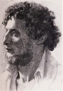 Эдгар Дега.Портрет итальянца 1856 г.