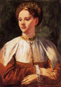 Эдгар Дега.Портрет молодой женщины по Бакчакка 1859 г.